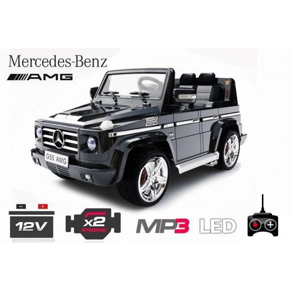 voiture lectrique pour enfant 4x4 mercedes g55 noir achat vente voiture enfant cdiscount. Black Bedroom Furniture Sets. Home Design Ideas