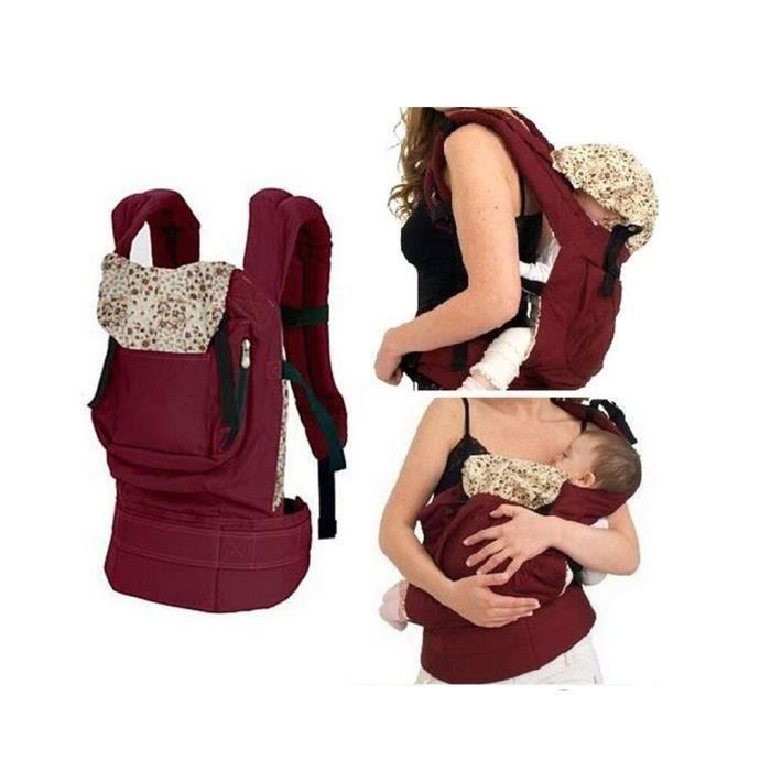 porte b b echarpe de portage ventral dorsal transporteur sac pour enfant nouveau n rouge. Black Bedroom Furniture Sets. Home Design Ideas