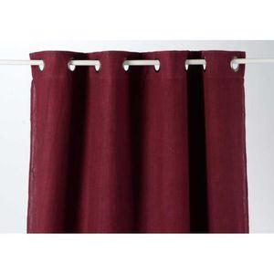 rideaux prune en lin achat vente rideaux prune en lin pas cher cdiscount. Black Bedroom Furniture Sets. Home Design Ideas