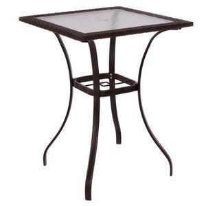 table jardin avec trou pour parasol achat vente table jardin avec trou pour parasol pas cher. Black Bedroom Furniture Sets. Home Design Ideas
