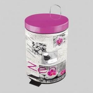 porte accessoire poubelle pdale zen spirit rose - Accessoire De Salle De Bain Rose