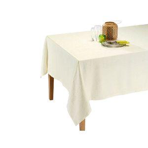 NAPPE DE TABLE Nappe Satine Ivoire 150 x 150 cm