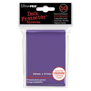 CARTE A COLLECTIONNER Ultra Pro 50 pochettes Deck Protector Solid Violet