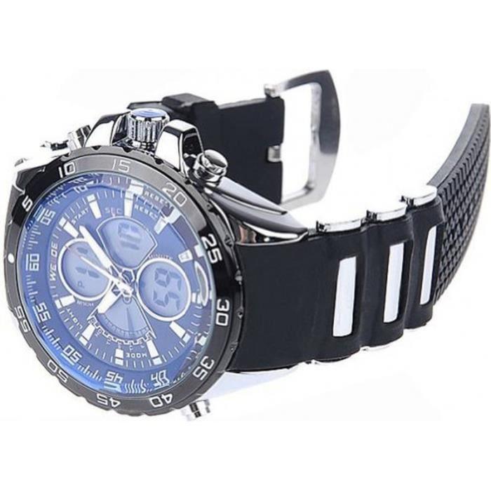 weide m1160c montre homme analogique digitale bracelet silicone achat vente montre cdiscount. Black Bedroom Furniture Sets. Home Design Ideas