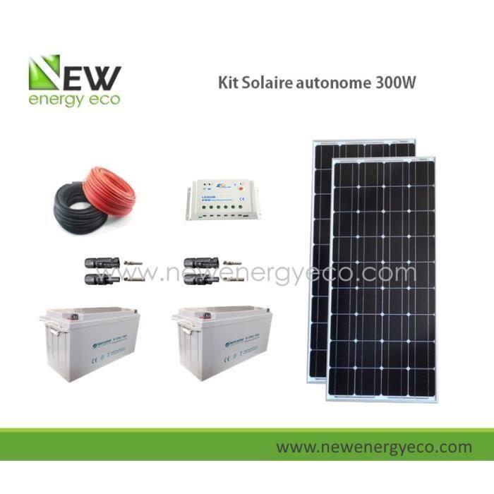 kit solaire autonome 12v 300w achat vente kit photovoltaique cdiscount. Black Bedroom Furniture Sets. Home Design Ideas