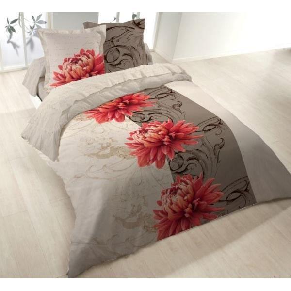 parure drap plat 240x300 cm drap housse 140x190 cm 2. Black Bedroom Furniture Sets. Home Design Ideas
