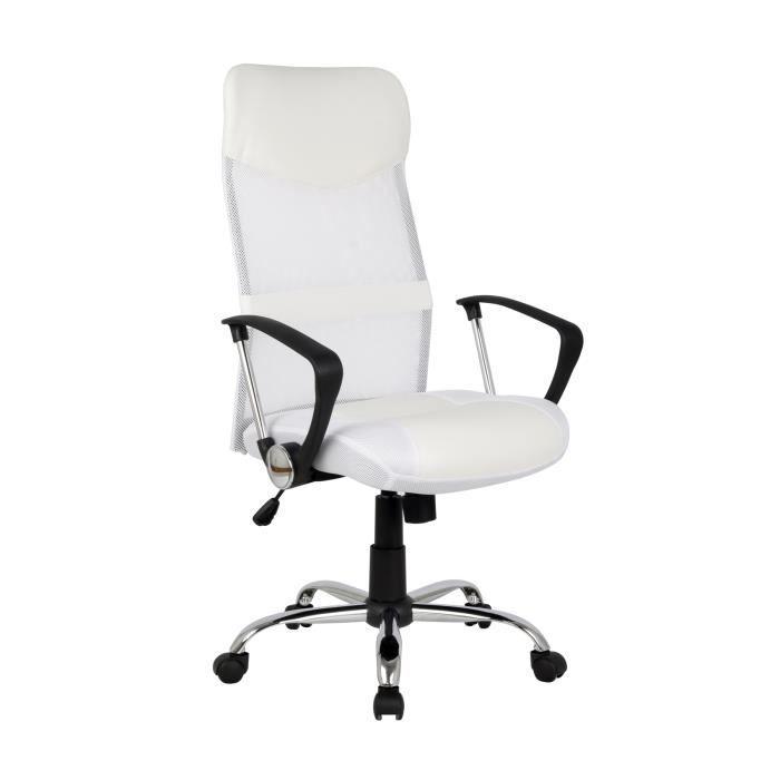 chaise de bureau pivotante blanc h 935 6 1320 achat vente chaise de bur. Black Bedroom Furniture Sets. Home Design Ideas