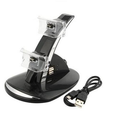 go4u double contr leur dock chargeur pour manette ps4 playstation game console avec c ble prix. Black Bedroom Furniture Sets. Home Design Ideas