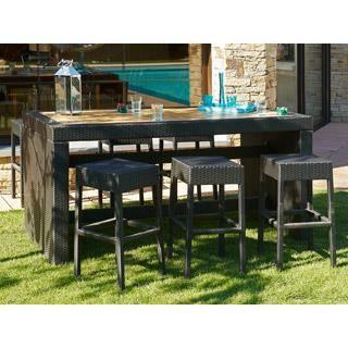 Salon de jardin r sine tress e cuba table 6 tab achat - Salon de jardin en resine cdiscount ...