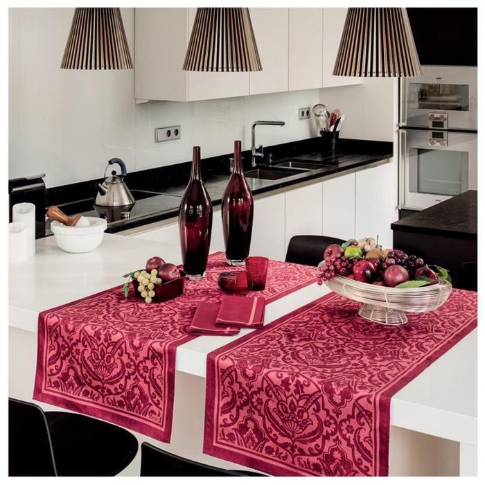 nappe carr e saint tropez groseille achat vente nappe de table cdiscount. Black Bedroom Furniture Sets. Home Design Ideas