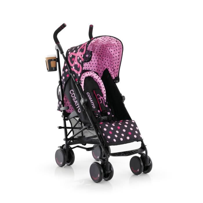Cosatto poussette canne supa bow how rose fushia et marron achat vente poussette - Poussette canne dossier inclinable ...