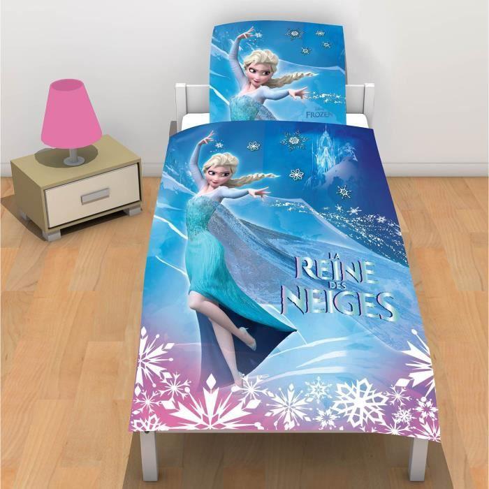 linge de lit parure de drap la reine des neiges de achat vente parure de drap soldes d. Black Bedroom Furniture Sets. Home Design Ideas