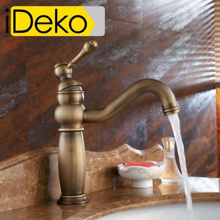 ideko robinet mitigeur lavabo salle de bain en laiton rotation 360 degr s c ramique style. Black Bedroom Furniture Sets. Home Design Ideas