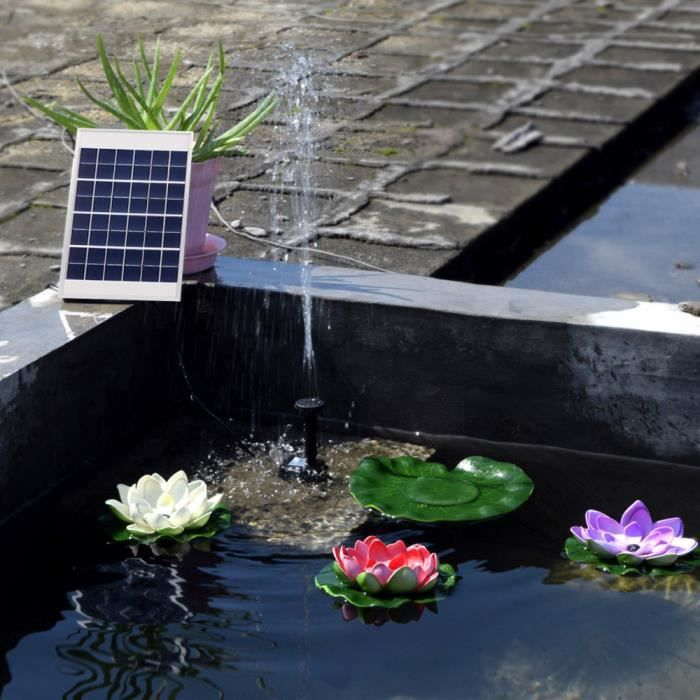 5w pompe eau solaire ext rieure chute d 39 eau pour piscine. Black Bedroom Furniture Sets. Home Design Ideas