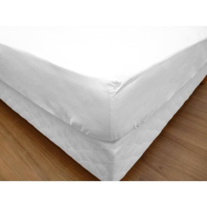 prot ge matelas flanelle 100 coton gratt 2 faces 400g m bonnet 30 cm 200x200 achat vente. Black Bedroom Furniture Sets. Home Design Ideas
