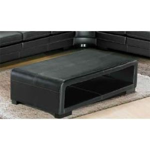 Table basse cuir achat vente table basse cuir pas cher for Cuir center table basse