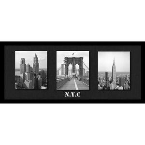 tableau new york noir et blanc achat vente tableau new york noir et blanc pas cher cdiscount. Black Bedroom Furniture Sets. Home Design Ideas