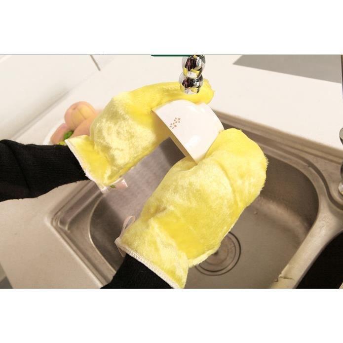 2pieces gants de la vaisselle m nager imperm able d graissage achat vente gants sous gants. Black Bedroom Furniture Sets. Home Design Ideas