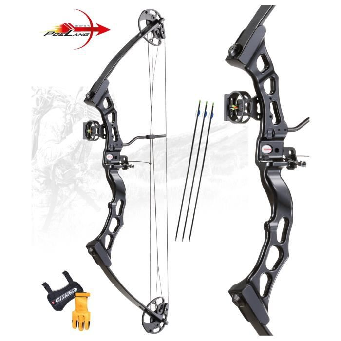 kit arc compound predator ii black droitier 40 65lbs achat vente arc 2009926016766 cdiscount