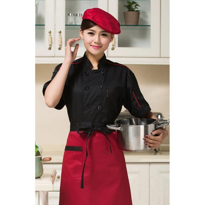 Veste de cuisine restautant respirant taille xl aux for Tenue professionnelle cuisine