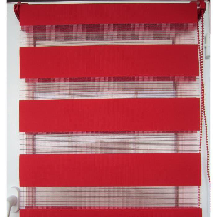 Store enrouleur lumi re nuit 90xh180cm rouge achat for Maison rouge boite de nuit