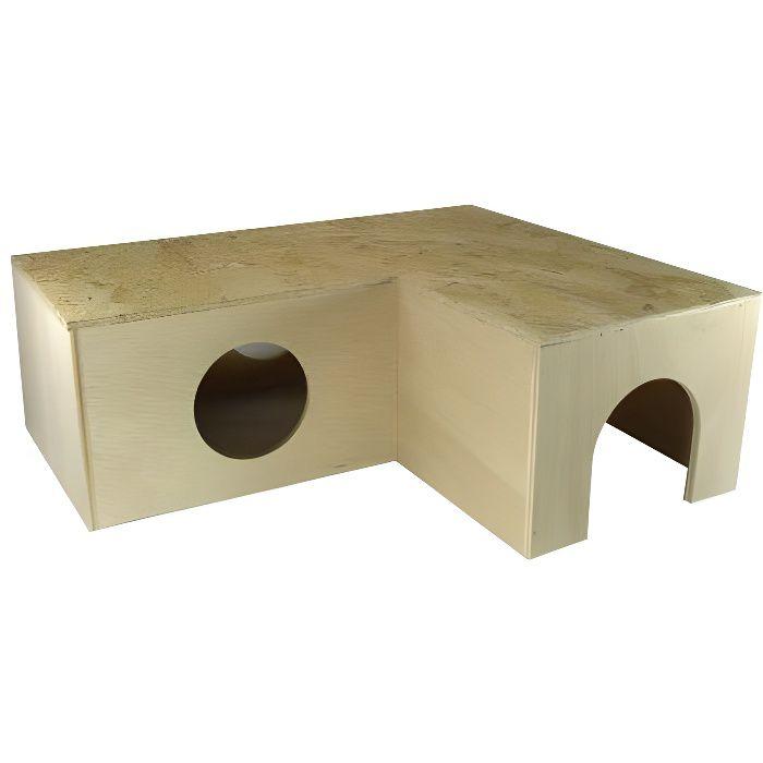 elmato 10376 cabane d 39 angle pour lapin nain achat vente accessoire abri animal elmato. Black Bedroom Furniture Sets. Home Design Ideas