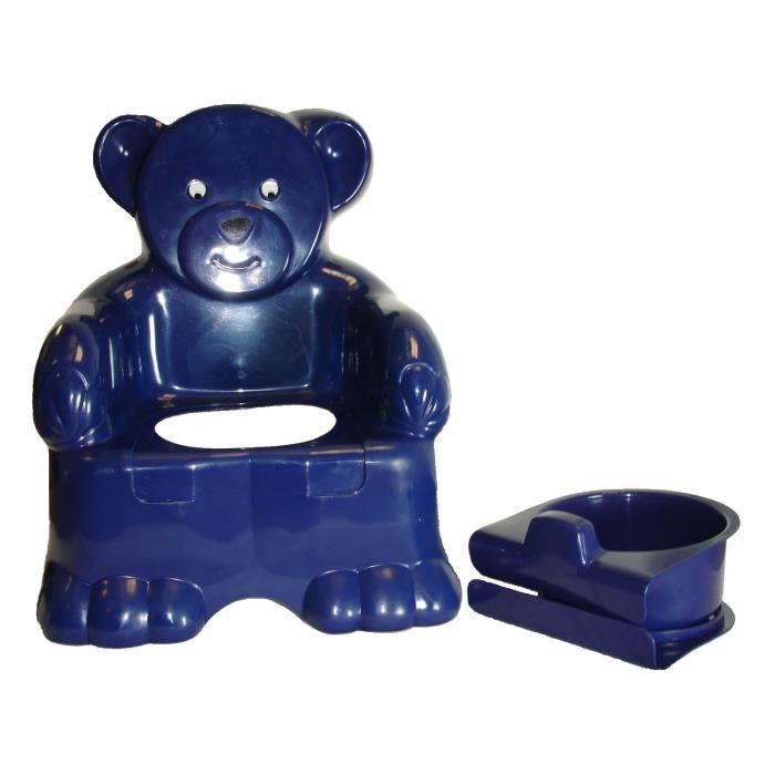 bleu fonc enfant teddy pot chaise enfant formation toilettes si ge plastique achat vente. Black Bedroom Furniture Sets. Home Design Ideas