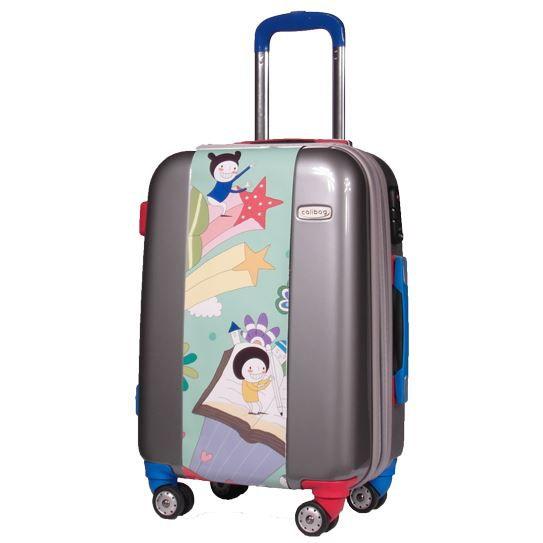 valise comptine valise cabine originale gris achat. Black Bedroom Furniture Sets. Home Design Ideas