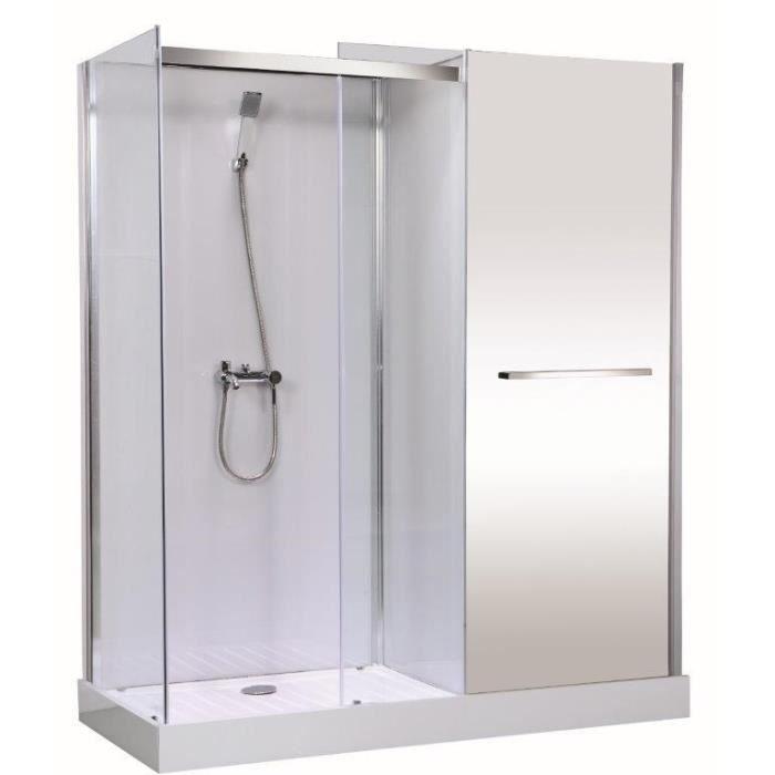 Gelco cabine de douche meublante fastnew 80x180 cm achat for Miroir 80x180