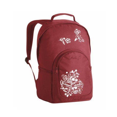 marv mbp1102 sac dos leaves rouge achat. Black Bedroom Furniture Sets. Home Design Ideas
