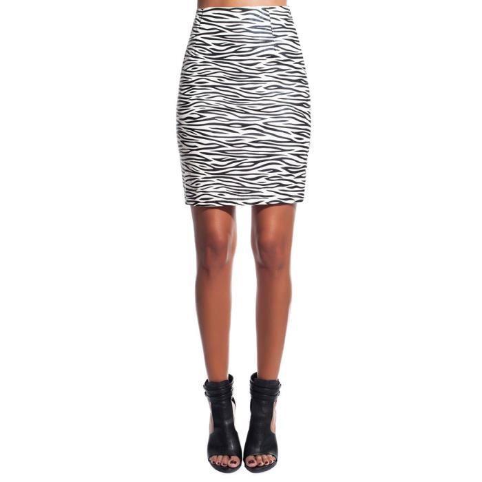 jupe crayon zebre noir blanc noir achat vente jupe kilt jupe crayon zebre noir blanc. Black Bedroom Furniture Sets. Home Design Ideas