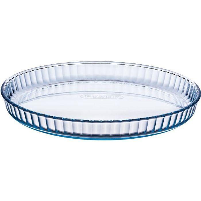 pyrex moule tarte classic glassware 27 cm transparent achat vente moule moule 27 cm. Black Bedroom Furniture Sets. Home Design Ideas