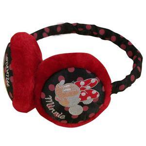 BONNET - CAGOULE Minnie - Cache-Oreilles Enfant Fille couleur - Rou
