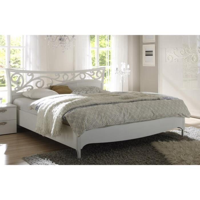 Lit moderne ambroise 180cm meuble house achat vente lit compl - Lit mezzaclic 140x190 ...