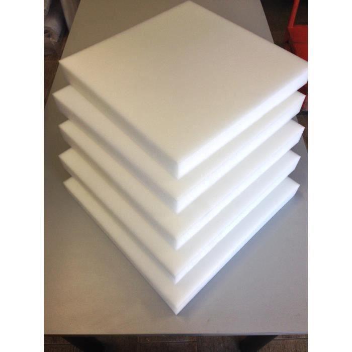 5 plaques de mousse polyur thane 40x40 5cm achat vente - Plaque de mousse pour canape ...
