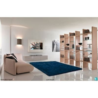 tapis shaggy bleu petrole 120x160cm achat vente tapis. Black Bedroom Furniture Sets. Home Design Ideas