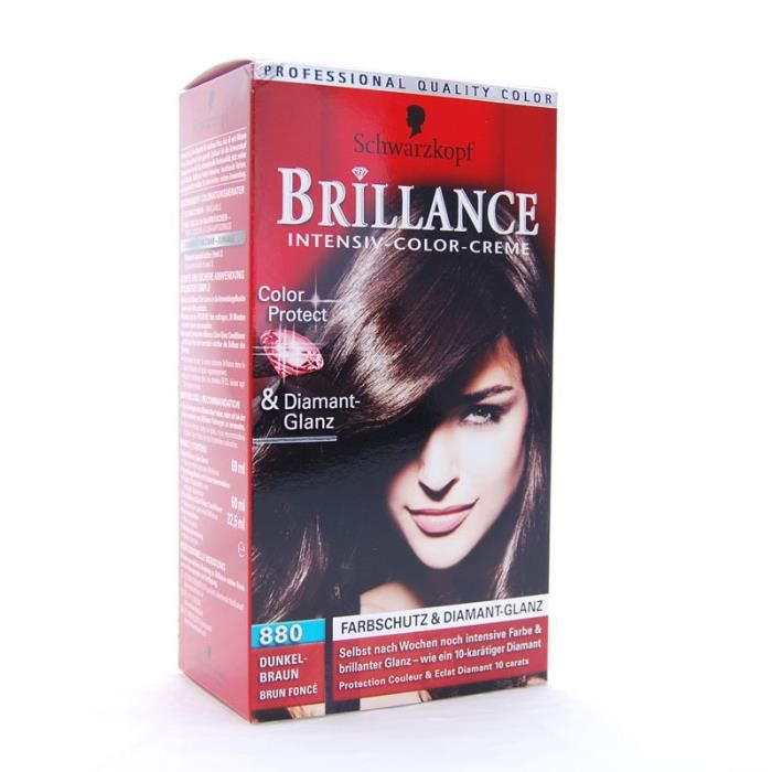 coloration brillance de schwarzkopf n880 brun fonce colo - Prix Coloration Schwarzkopf