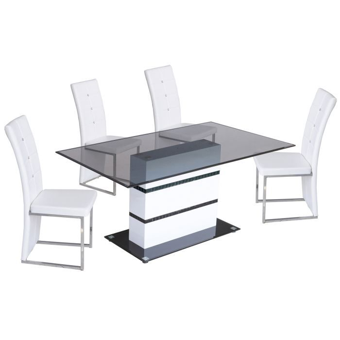 Table salle manger design lula blanc achat vente for Table de salle a manger design