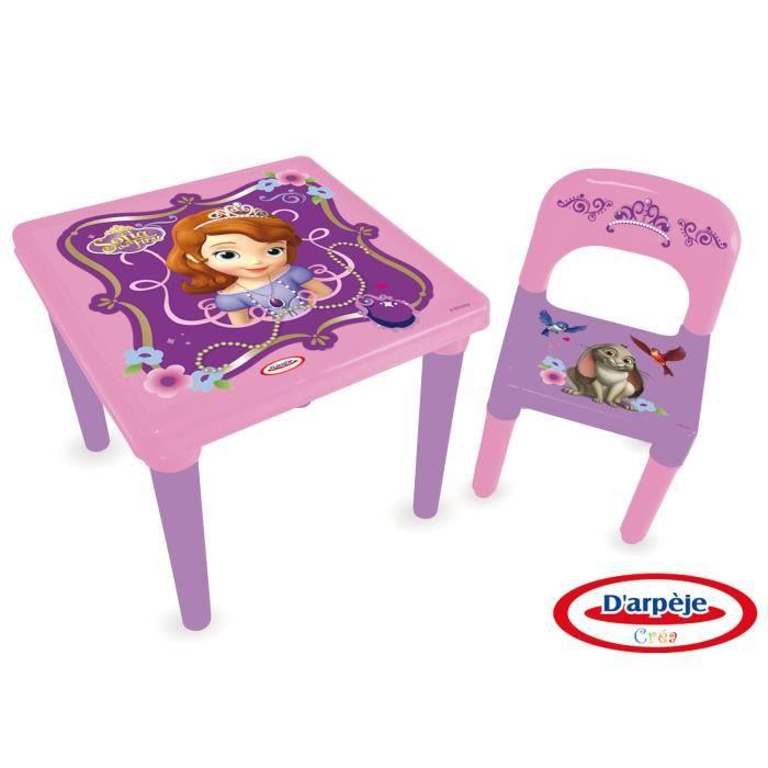 Table d 39 activit s set cr atif princesse sofia achat for Table d activite bebe avec siege