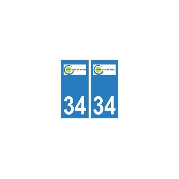 34 saint jean de v das logo autocollant plaque immatriculation ville angles arrondis achat - Decor discount st jean de vedas ...