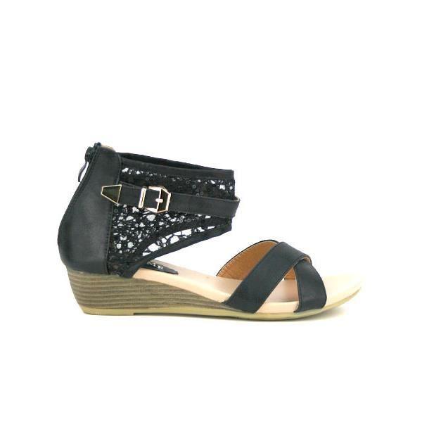 Compensées Noir Chaussures Femme, Cendriyon Noir Noir - Achat / Vente ...