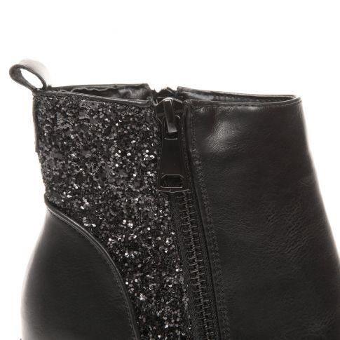 Bottines plateforme strass et paillette noir noir noir achat vente bottine cdiscount for Bureaux adolescente noir et strass