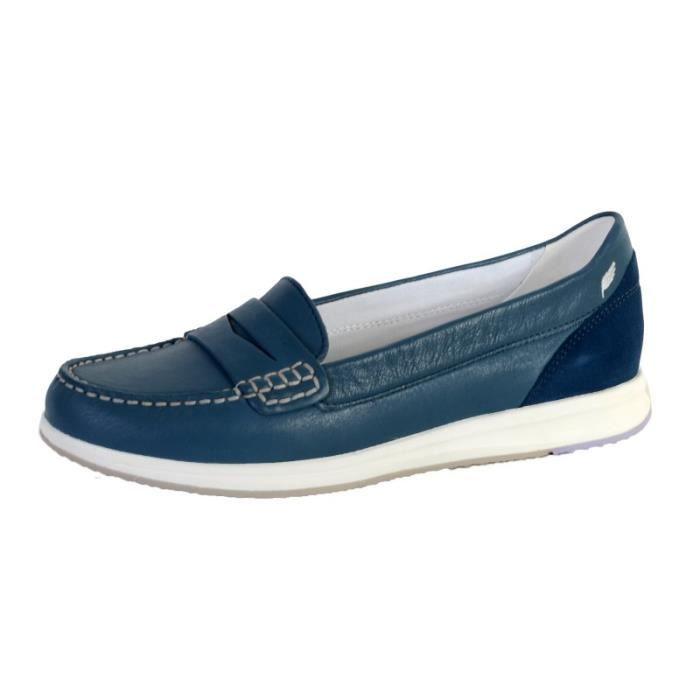 Mocassins Geox Coloris : Bleu Denim Bout de la chaussure : Rond Facile