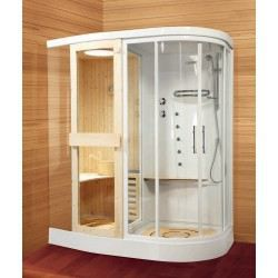 cabine de douche novellini stockolm avec sauna achat vente cabine de douche cabine de douche. Black Bedroom Furniture Sets. Home Design Ideas