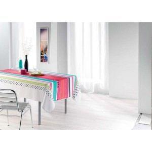 Paris prix nappe cuisine d 39 t blanc 150x240cm achat - Nappe de cuisine rectangulaire ...
