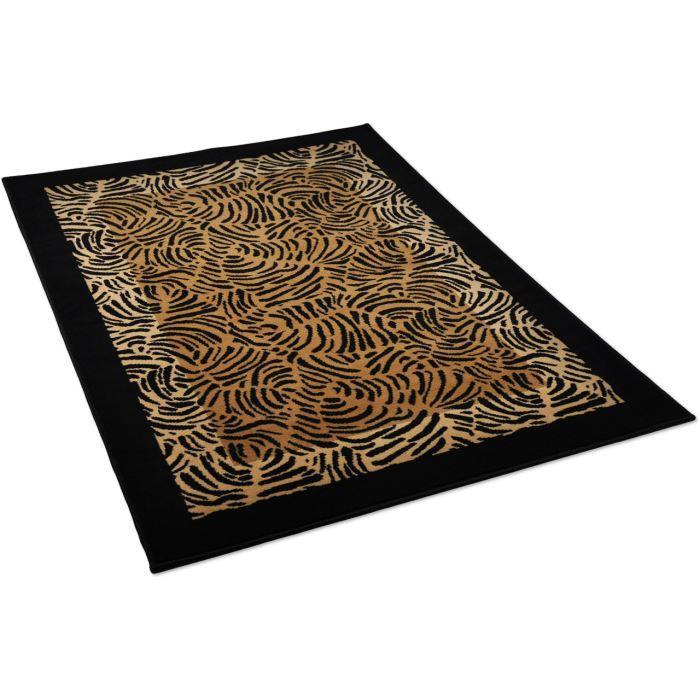 tapis salon africain marron universol 120x170cm achat vente tapis soldes cdiscount. Black Bedroom Furniture Sets. Home Design Ideas