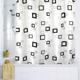 Rideau de douche textile quadro 180x200 cm achat vente rideau de douche textile - Rideau de douche textile ...