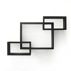 etagere cube murale noir achat vente etagere cube murale noir pas cher cdiscount. Black Bedroom Furniture Sets. Home Design Ideas
