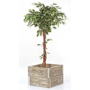 Bac a fleur en bois achat vente bac a fleur en bois pas cher cdiscount - Bac a arbre ...