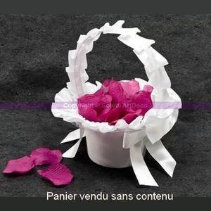 statue statuette panier de mariage corbeille en satin blanc pour p - Panier Pour Petale Mariage